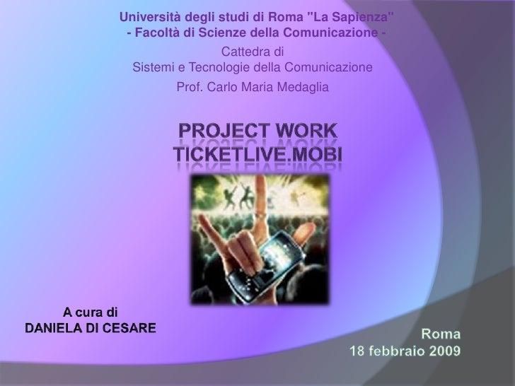 Università degli studi di Roma quot;La Sapienzaquot;  - Facoltà di Scienze della Comunicazione -                  Cattedra...