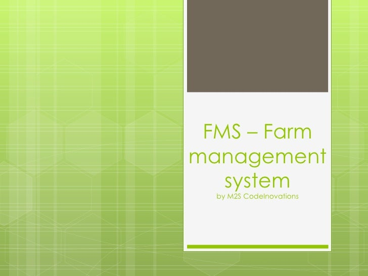 FMS – Farm management system by M2S CodeInovations