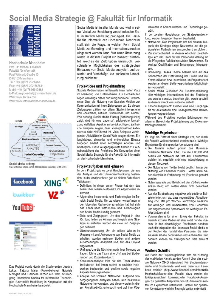 Social Media Strategie @ Fakultät für Informatik                                                                          ...