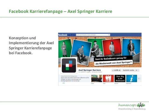 Facebook Karrierefanpage – Axel Springer KarriereKonzeption undImplementierung der AxelSpringer Karrierefanpagebei Facebook.