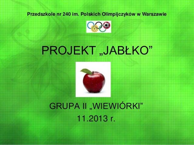 "Projekt ""jabłko"