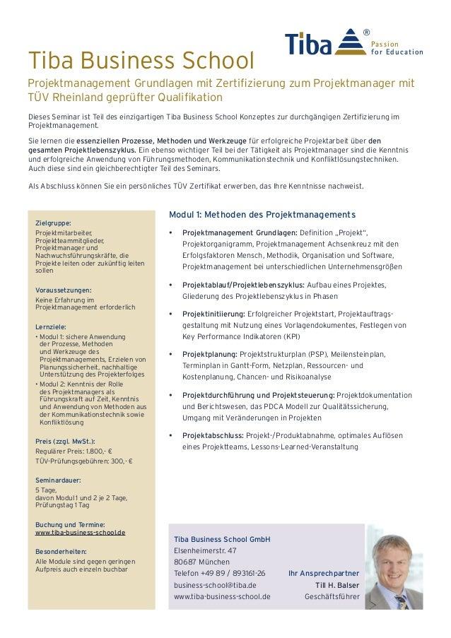 """""""Projektmanagement Methoden und Soft Skills"""" mit Abschluss zum Projektmanager (zertifiziert durch TÜV Rheinland)"""