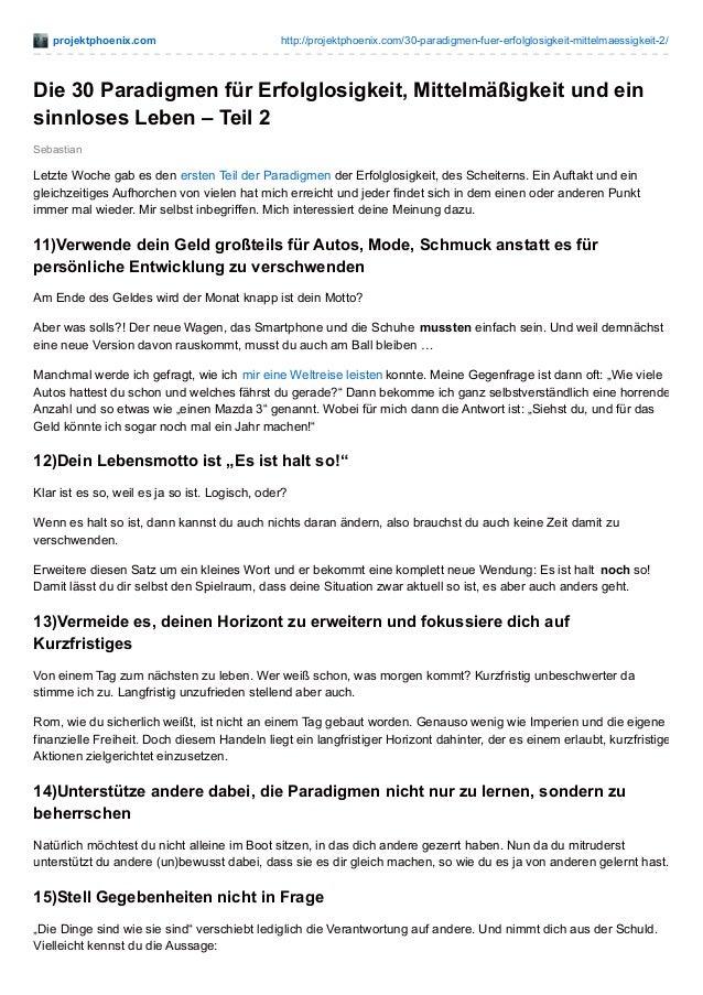 projektphoenix.com http://projektphoenix.com/30-paradigmen-fuer-erfolglosigkeit-mittelmaessigkeit-2/ Sebastian Die 30 Para...
