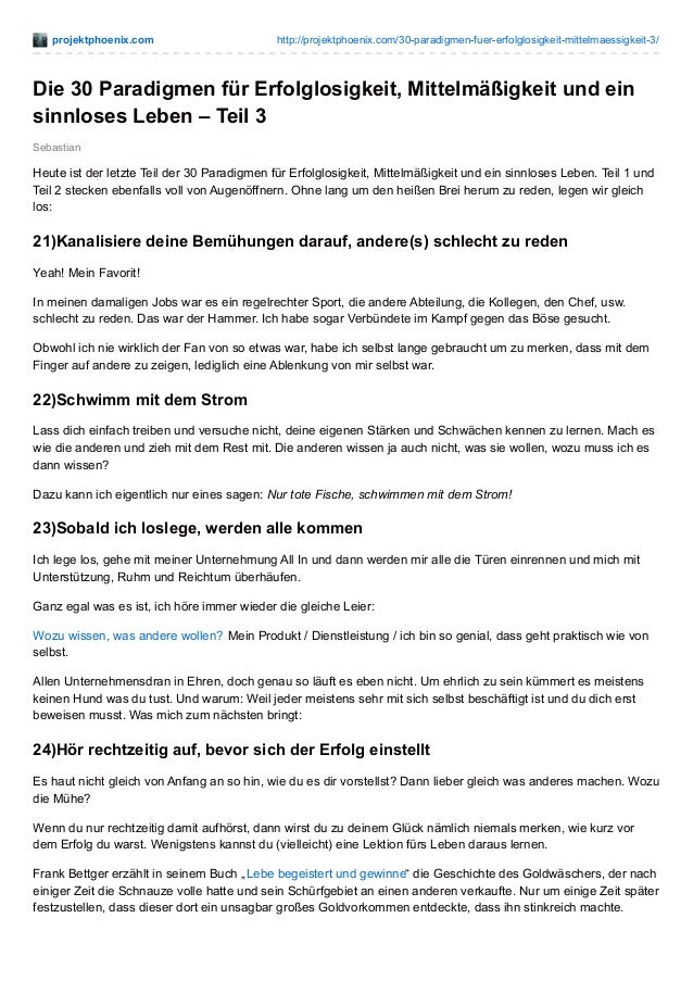 projektphoenix.com http://projektphoenix.com/30-paradigmen-fuer-erfolglosigkeit-mittelmaessigkeit-3/ Sebastian Die 30 Para...