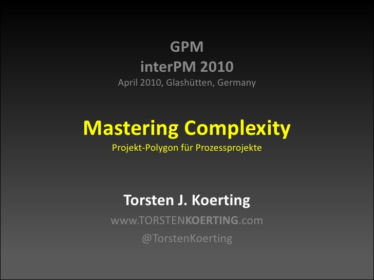 Mastering Complexity - Projekt-Polygon fuer Prozessprojekte