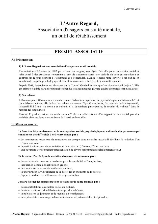 Projet associatif-janvier-2013