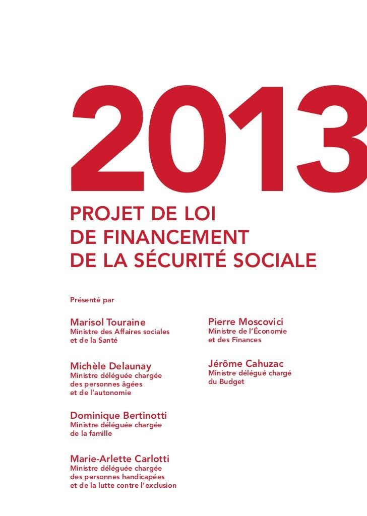 2013                                                                              PROJET DE LOI                           ...