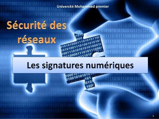 Université Mohammed premier  1