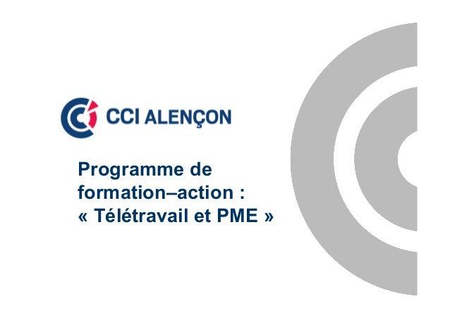 Programme deformation–action :« Télétravail et PME »