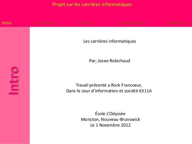Projet carriere - is