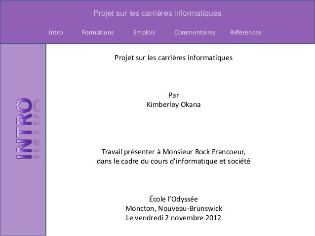 Projet carriere is kim