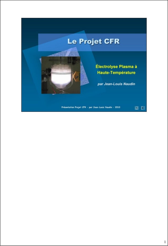 CFR (Cold Fusion Reactor) Project document