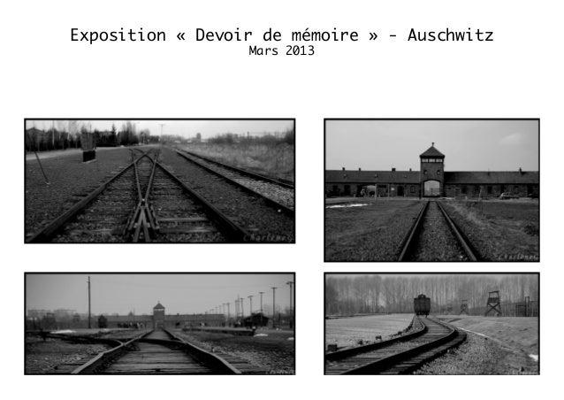 Exposition « Devoir de mémoire » - Auschwitz Mars 2013