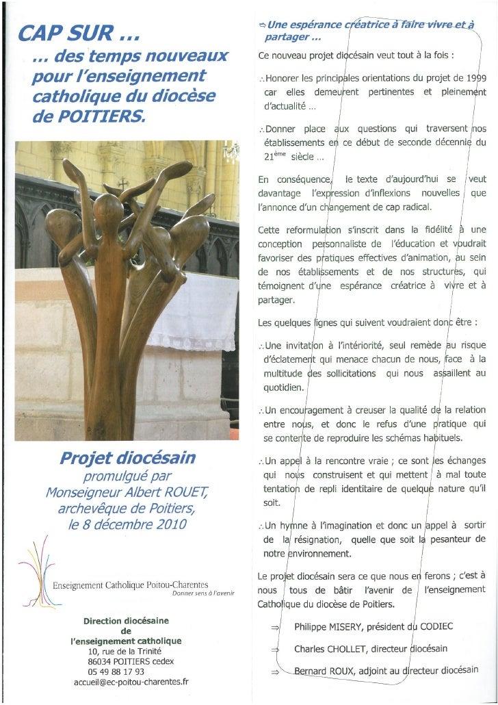 Le projet diocésain du Lycée Saint-André