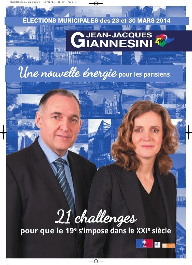 Programme Jean-Jacques Giannesini Paris 2014