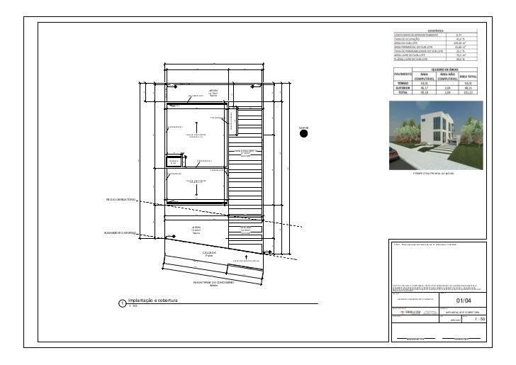 Exemplo de Projeto Arquitetônico aprovado em Curitiba