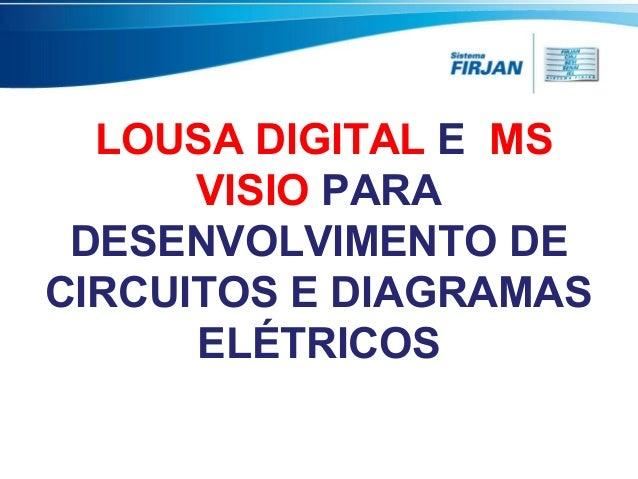 LOUSA DIGITAL E MS VISIO PARA DESENVOLVIMENTO DE CIRCUITOS E DIAGRAMAS ELÉTRICOS