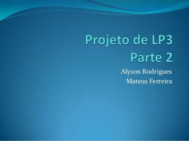 Alyson Rodrigues Mateus Ferreira