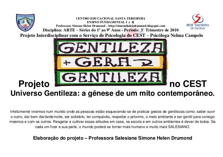 CENTRO EDUCACIONAL SANTA TERESINHA                                                  ENSINO FUNDAMENTAL I e II             ...