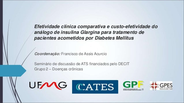 Efetividade clínica comparativa e custo-efetividade do análogo de insulina Glargina para tratamento de pacientes acometido...