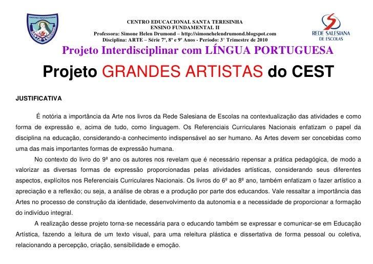 CENTRO EDUCACIONAL SANTA TERESINHA                                                    ENSINO FUNDAMENTAL II               ...
