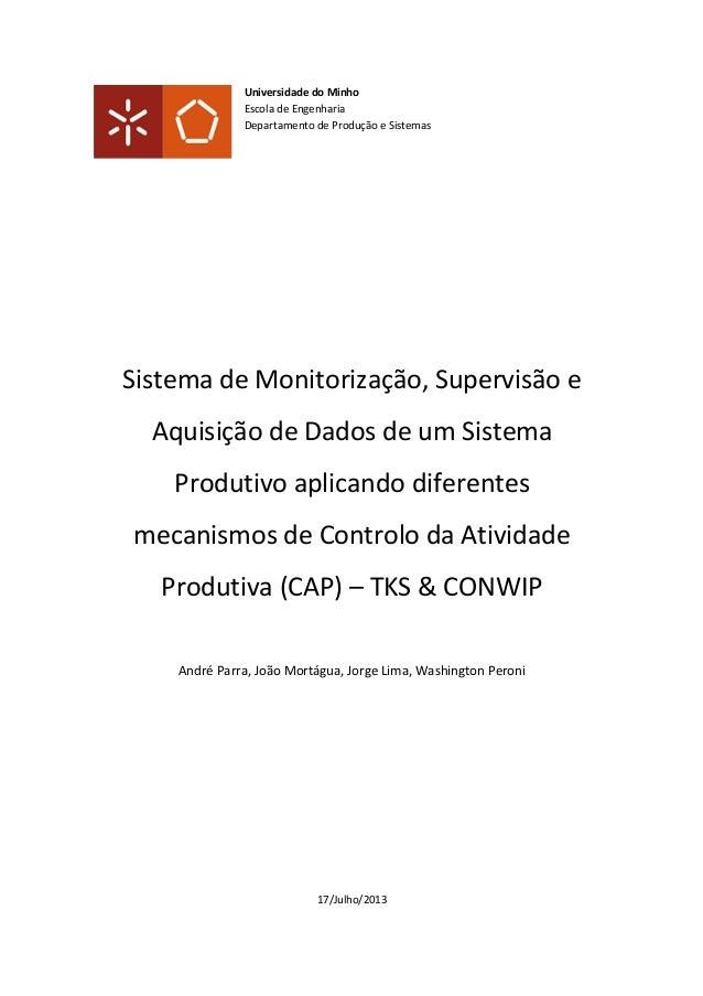 Projeto stockview - Sistema de Controle em LabView para TKS e ConWIP
