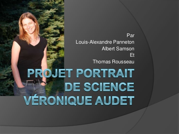 Projet portrait de science