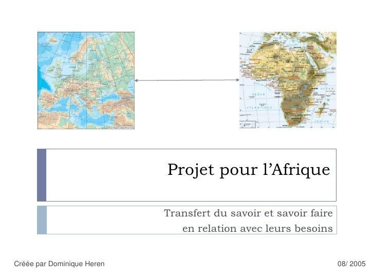 Projet pour l'afrique