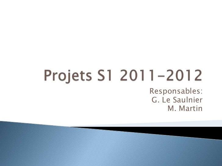 Responsables:G. Le Saulnier    M. Martin