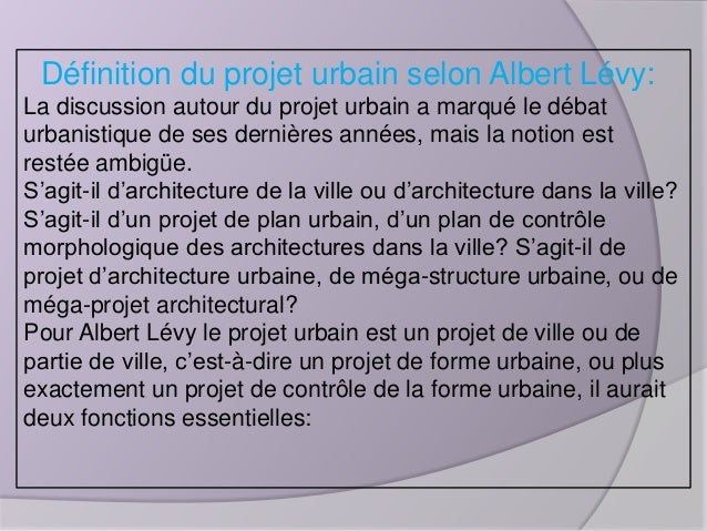 projet urbain 04 On projet architectural definition
