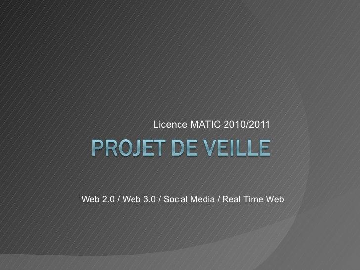 Projet veille Licence MATIC Nov'10