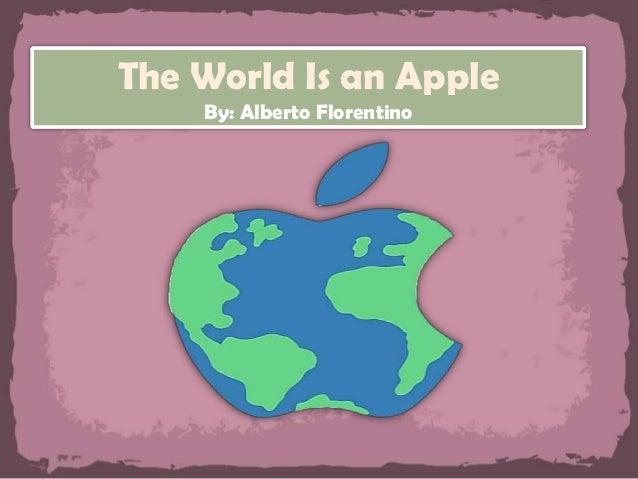 the world is an apple theme