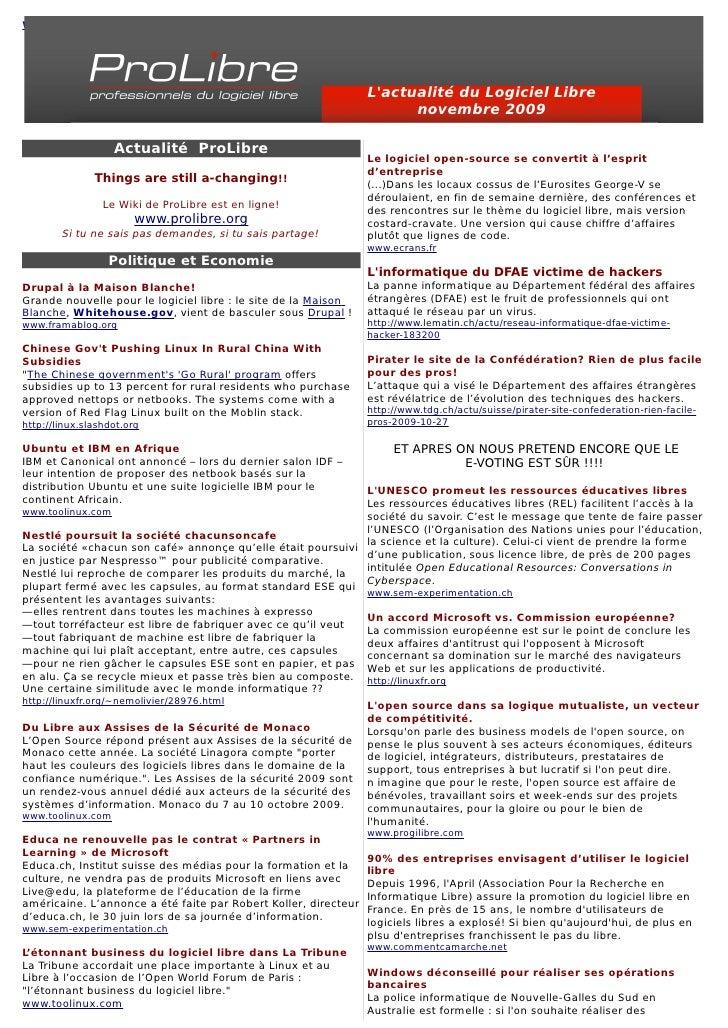 www.lesechos.fr                                                                      L'actualité du Logiciel Libre        ...