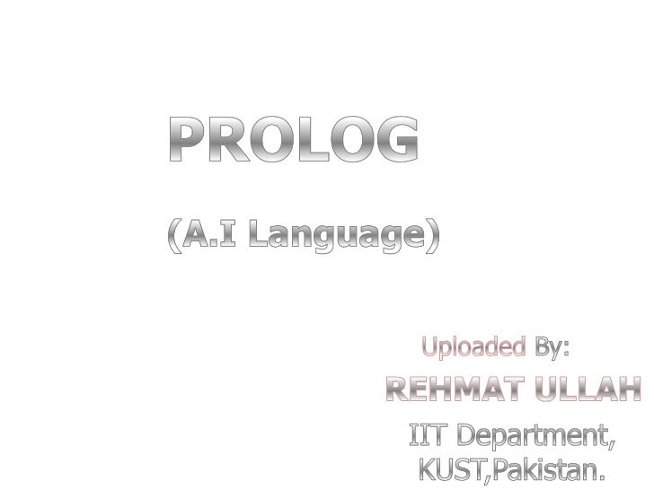 Artificial intelligence Prolog Language