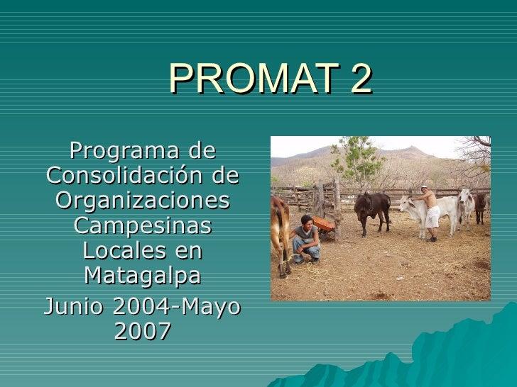 Promat 2 Presentacion 2005