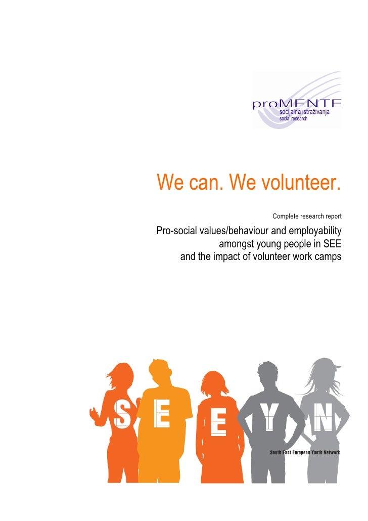 Promente Seeyn Voluntarism Research Results