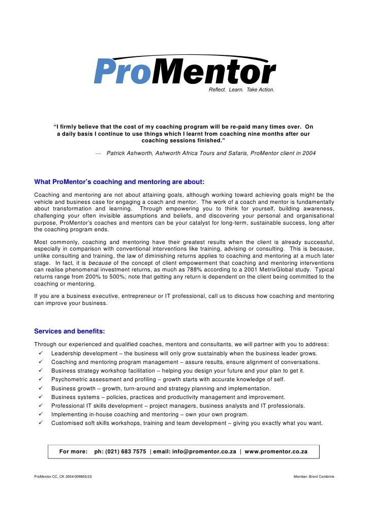 ProMentor Brochure Ver 7.30