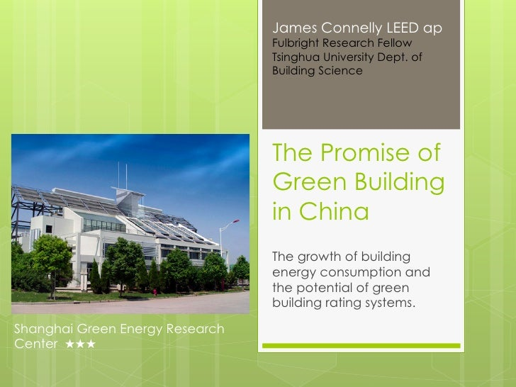 Promise of Green Building in China, James Connelly (February 2012)
