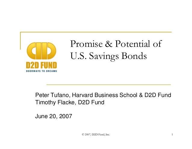 Promise & Potential of U.S. Savings Bonds