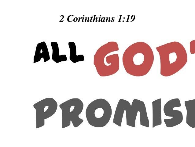 All God's Promises  - Week 1