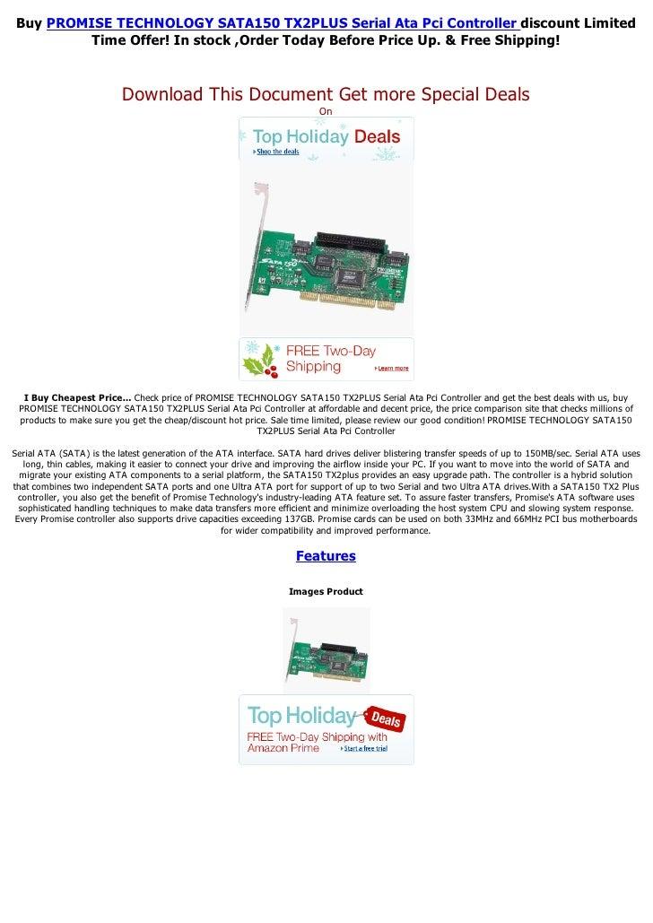 Promise technology sata150 tx2 plus serial ata pci controller