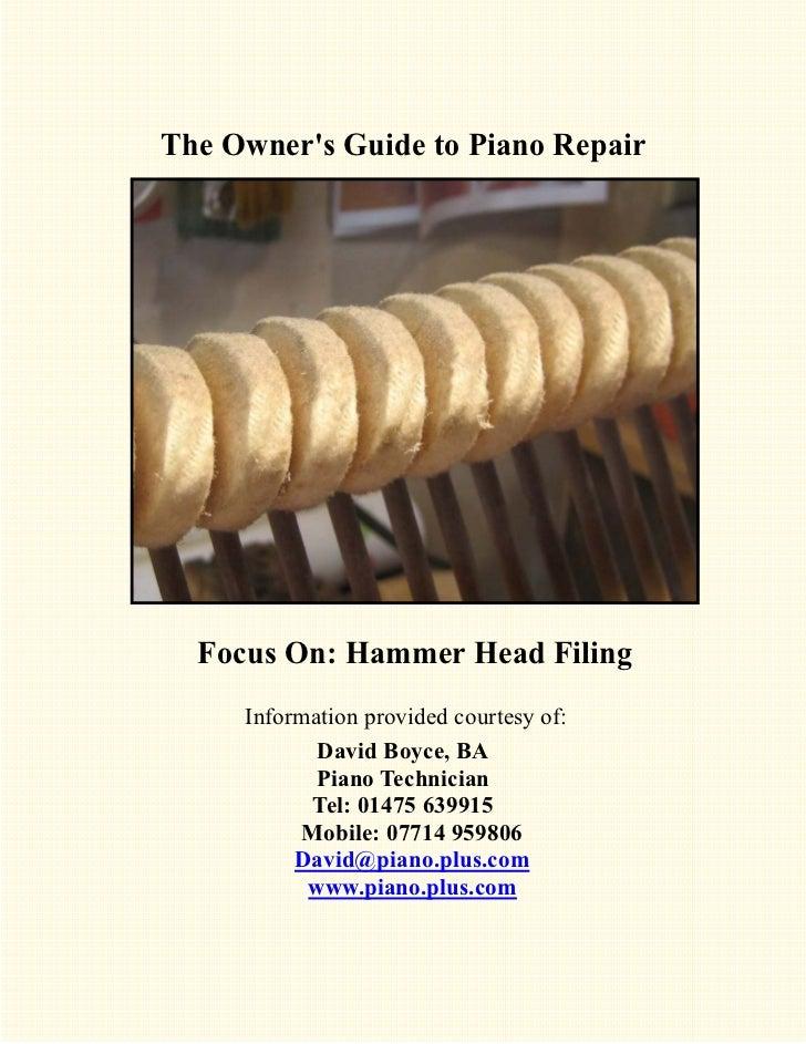Technical Info 2   hammer filing