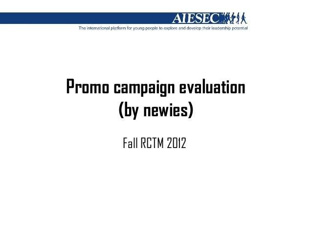 Promo campaign evaluation