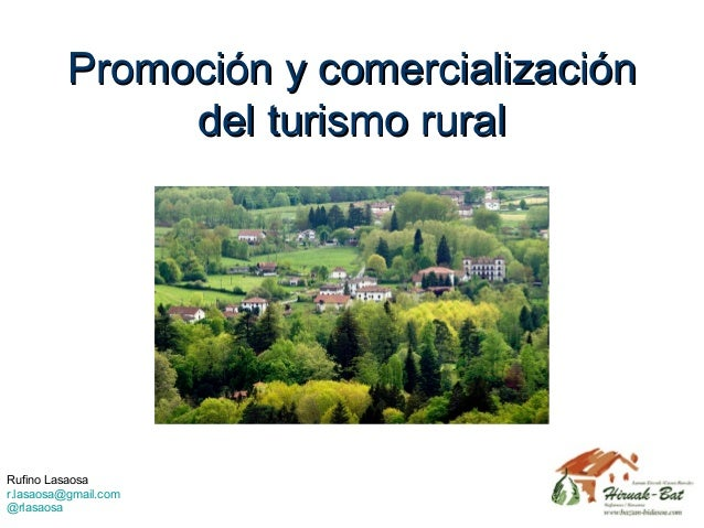Promoción y comercialización del turismo rural