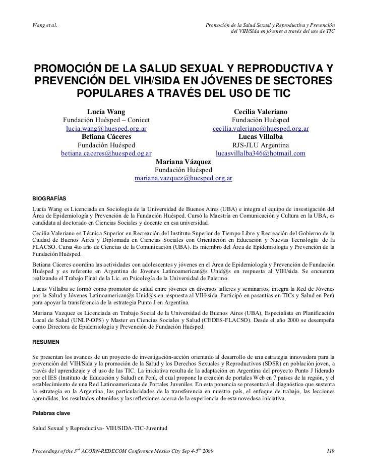 Wang et al.                                                             Promoción de la Salud Sexual y Reproductiva y Prev...