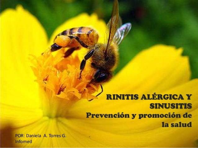 Rinitis alérgica y sinusitis. Promoción y prevención.