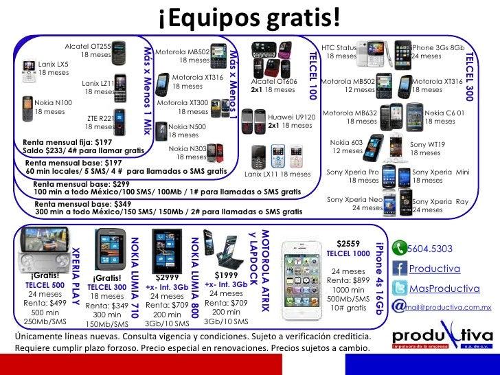 ¡Equipos gratis!              Alcatel OT255                                                                               ...