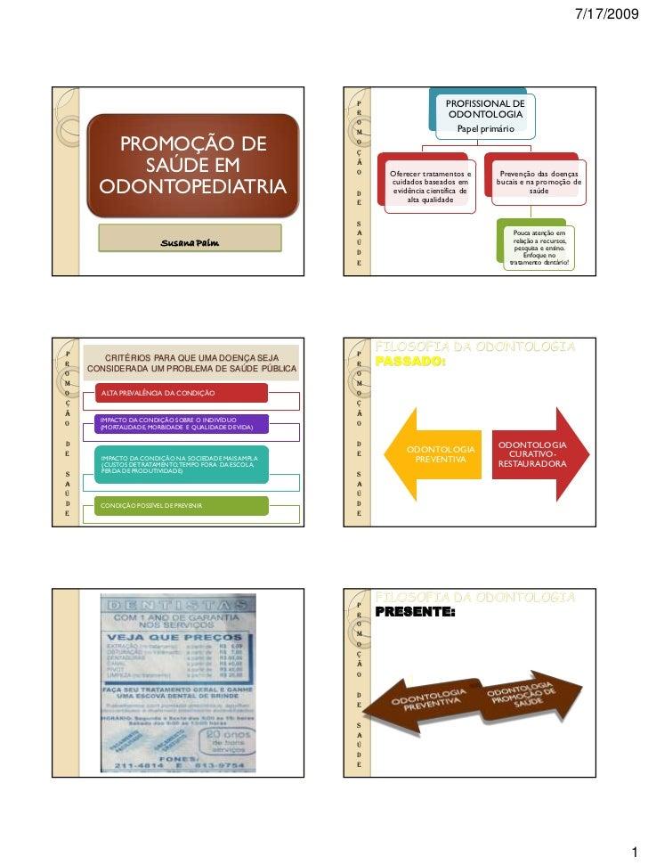 Promoção de saúde em odontopediatria