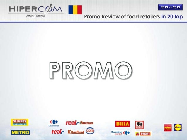 Promo Review Romania FY 2013 vs 2012