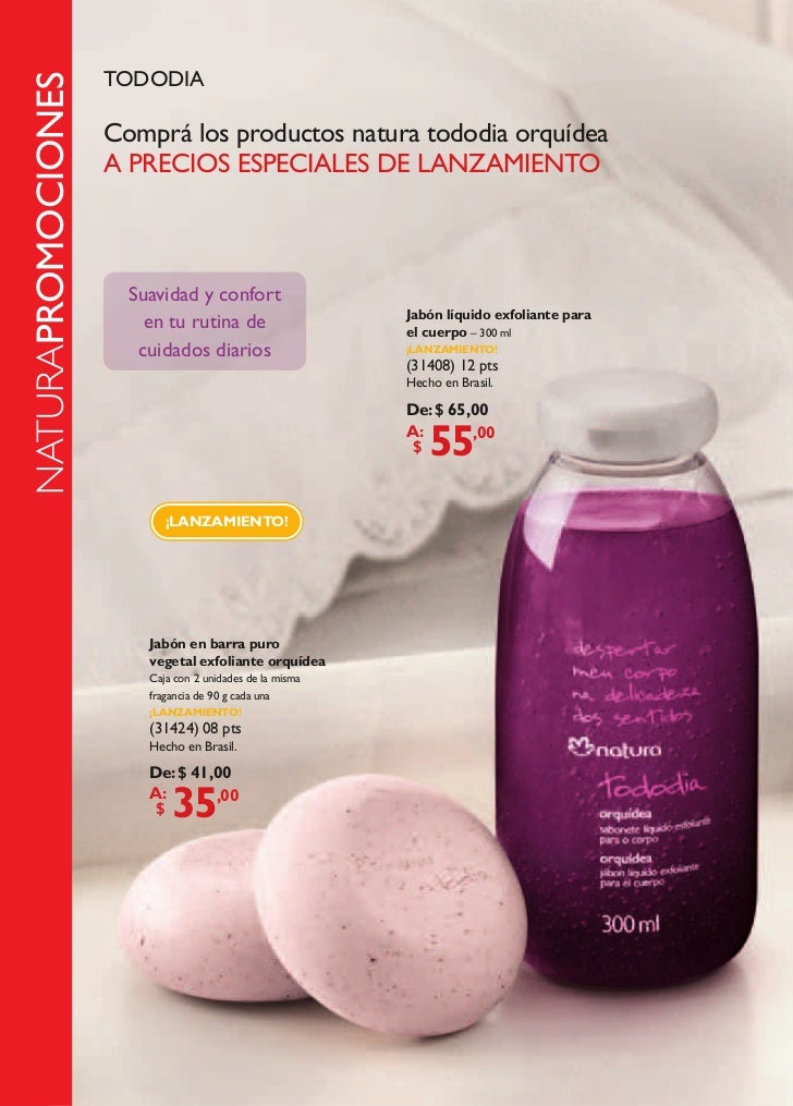TODODIA          NATURAPROMOCIONES                              Comprá los productos natura tododia orquídea              ...